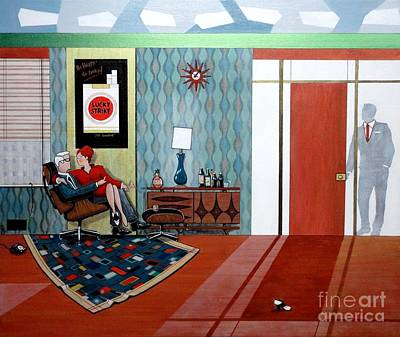 Roger Sterling And Joan Sitting In An Eames Poster