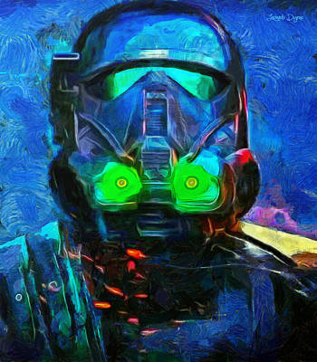 Rogue  One Fighter - Da Poster by Leonardo Digenio