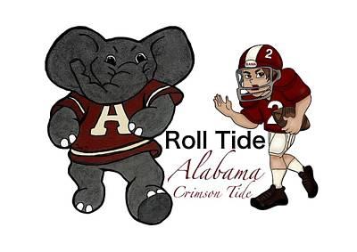 Roll Tide Mascot Player Poster by Tami Dalton