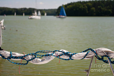 Rolled Up Mast Sail Material Poster
