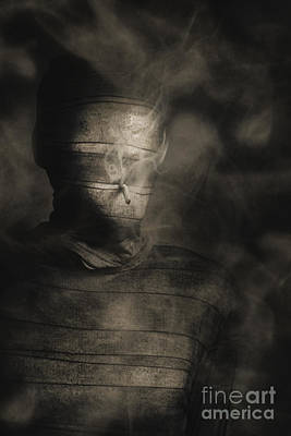 Rollie The Smoking Mummy Poster by Jorgo Photography - Wall Art Gallery