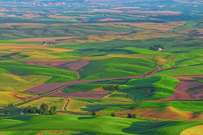 Rolling Green Hills Of The Palouse Poster by James Hammond
