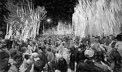 Rolling Toomer's Black And White Poster