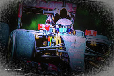 Romain Grosjean 2015 Poster by Marvin Spates