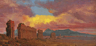 Roman Aqueduct Poster by Jervis McEntee