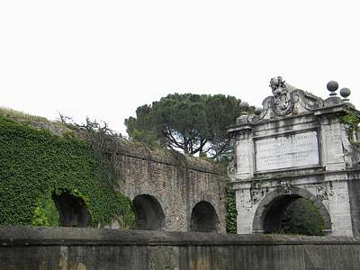 Poster featuring the photograph Roman Aqueduct by Manuela Constantin