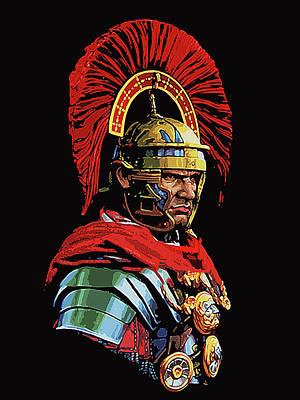 Roman Centurion Portrait Poster