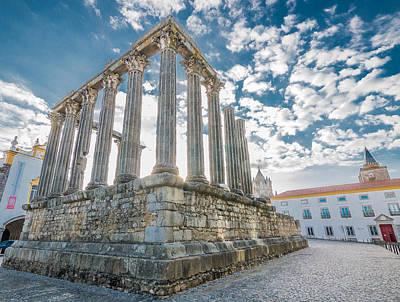 Roman Temple At Evora Poster