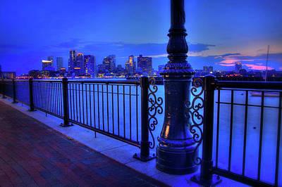 Romantic Boston - Boston Skyline At Night Poster