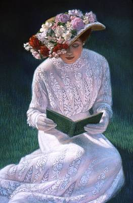 Poster featuring the painting Romantic Novel by Sue Halstenberg