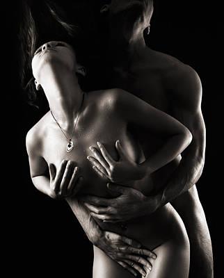 Romantic Nude Couple Making Love Poster by Oleksiy Maksymenko