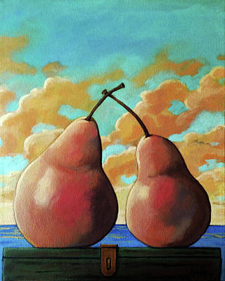 Poster featuring the painting Romantic Pear by Linda Apple