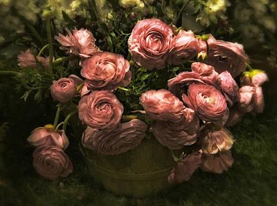 Romantic Ranunculus Poster by Jessica Jenney