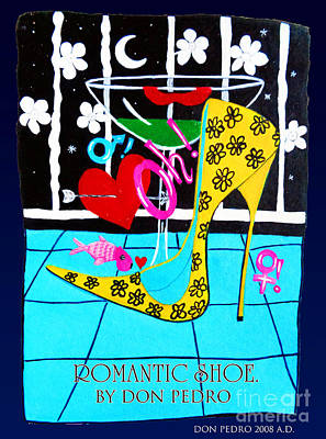 Poster featuring the painting Romantic Shoe by Don Pedro De Gracia