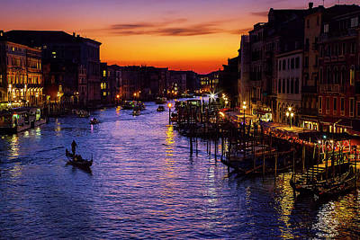 Romantic Venice Poster by Andrew Soundarajan