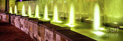 Romare Bearden Park Fountain Panorama Photo Poster