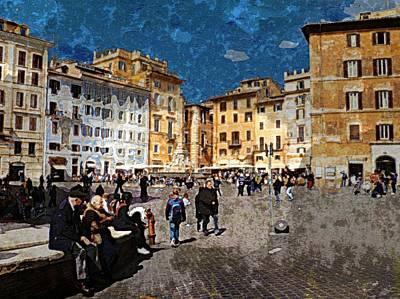 Rome - Piazza Della Rotunda Poster by Jen White