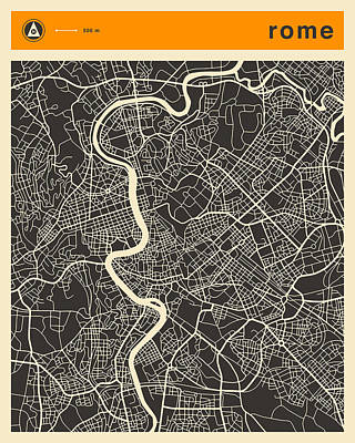 Rome Map Poster by Jazzberry Blue