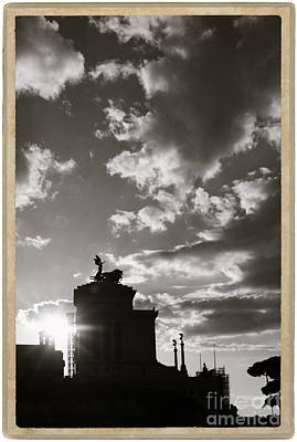 Rome Silhouette Under Dramatic Sky Poster by Stefano Senise