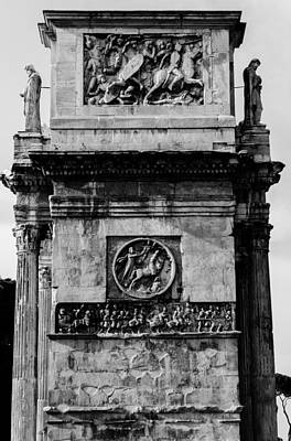 Rome - The Arch Of Constantine Bw Poster by Andrea Mazzocchetti