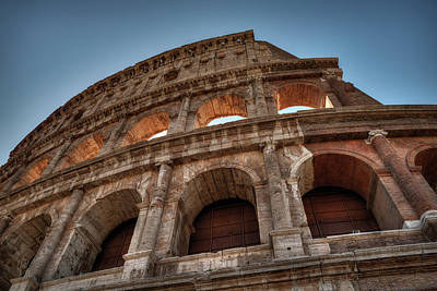 Poster featuring the photograph Rome - The Colosseum 003 by Lance Vaughn