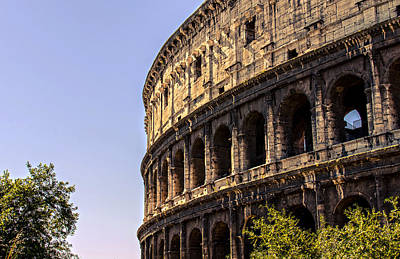 Rome - The Colosseum - Hdr Poster by Andrea Mazzocchetti