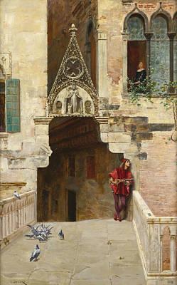 Romeo And Juliet. Act II. Scene II. Capulet's Garden Poster