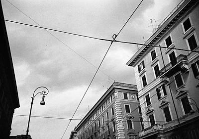 Rome's Downtown Cable Sky Poster