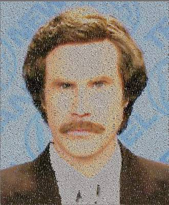 Ron Burgundy Quotes Mosaic Poster