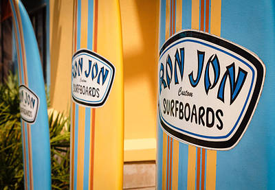 Ron Jon Surf Boards Poster by Gary Oliver