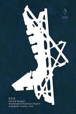 Ronald Reagan Washington National Airport In Arlington County Us Poster