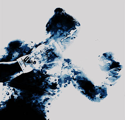 Ronda Rousey Paint Splatter  Poster