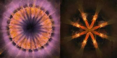 Ronde Scheme Flower  Id 16165-220139-79520 Poster by S Lurk