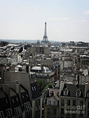 Roofs Of Paris. France Poster