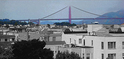 Rooftop View Of The Golden Gate Bridge Poster