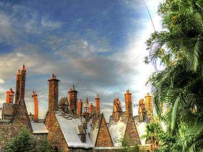 rooftops Hogsmeade Poster