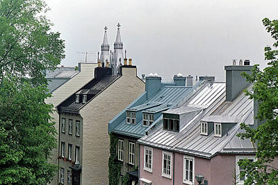 Poster featuring the photograph Rooftops by John Schneider