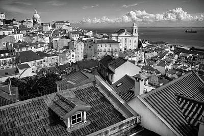 Rooftops Of Alfama In Lisbon Poster by Carlos Caetano