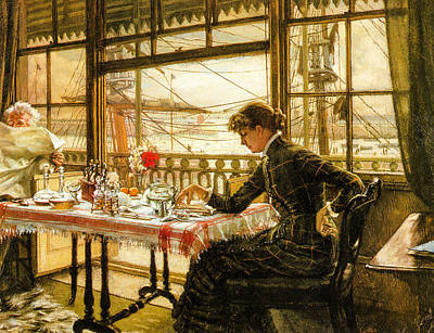 Room Overlooking The Harbour 1876  Poster by Jacques Joseph Tissot