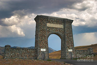 Poster featuring the photograph Roosevelt Arch -- Welcome To Yellowstone National Park by Charles Kozierok