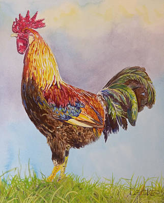Poster featuring the painting Rooster I by Robert Decker