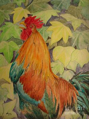Rooster Poster by Laurianna Taylor