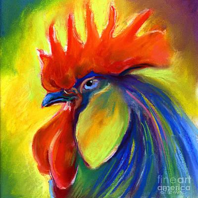 Rooster Painting Poster by Svetlana Novikova