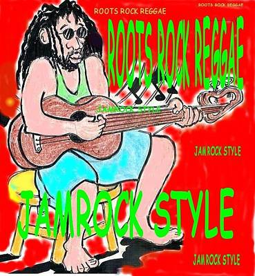 Roots Rock Reggae Poster by Anthony Williams