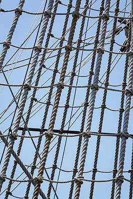 Poster featuring the photograph Rope Ladder by Dale Kincaid