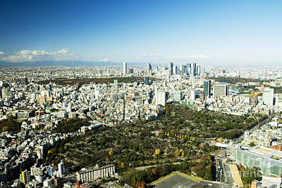 Roppongi Aerial Veiw Poster by Bill Brennan - Printscapes