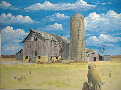Poster featuring the painting Rorabeck Barn by Norm Starks