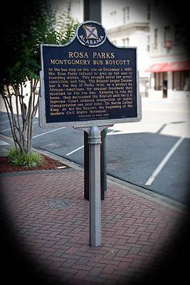 Rosa Parks Arrest Memorial Poster by Arnold Hence
