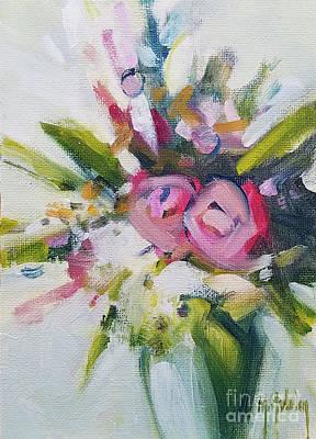 Rose Bouquet Flower Color Spring Poster