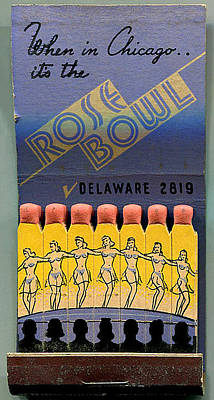 Poster featuring the digital art Rose Bowl Chicago Matches by Reinvintaged